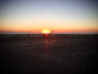 à la plage, comme Eugénie Drion