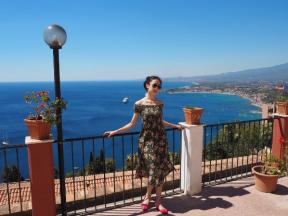 en vacances en Sicile, comme Sae Eun Park